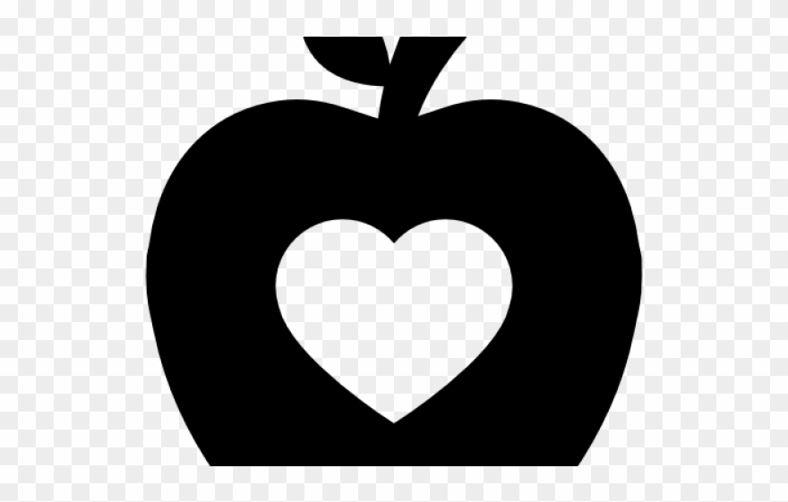Heart shaped apple clipart black and white vector royalty free library Heart Clipart Apple - Apple - Png Download (#1783816 ... vector royalty free library