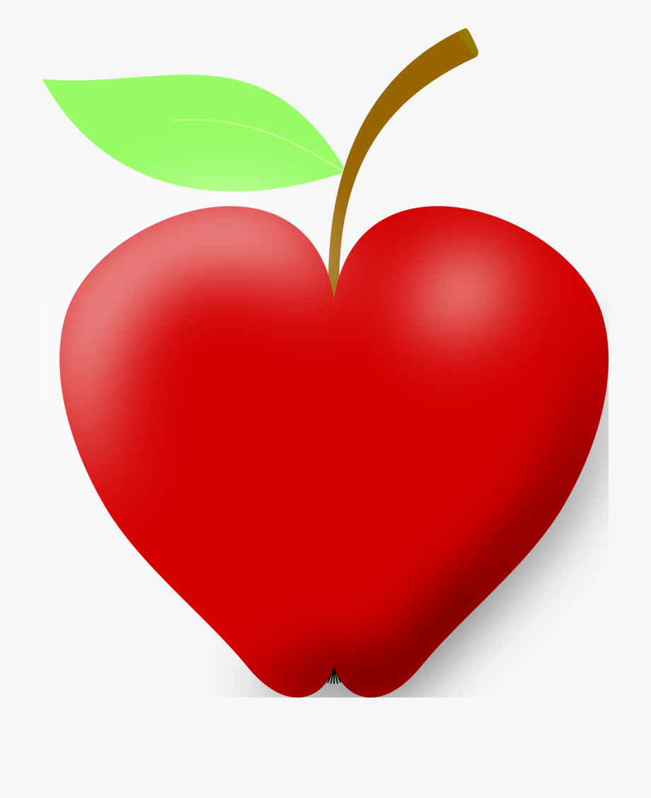 Heart shaped apple clipart black and white png library stock Best Hd Apple Heart Clip Art Image Ⓒ - Heart Shaped Apple ... png library stock