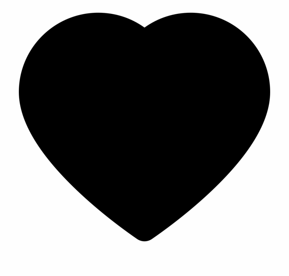 Heart shaped apple clipart black and white picture library library Heart Shape Comments - Black Love Heart Emoji {#2426811 ... picture library library
