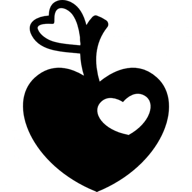 Heart shaped apple clipart black and white svg free stock Heart Shape Clipart Black And White   Free download best ... svg free stock