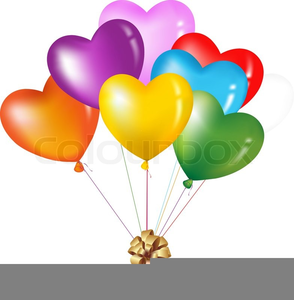 Heart shaped balloon clipart graphic freeuse stock Heart Shaped Balloons Clipart | Free Images at Clker.com ... graphic freeuse stock