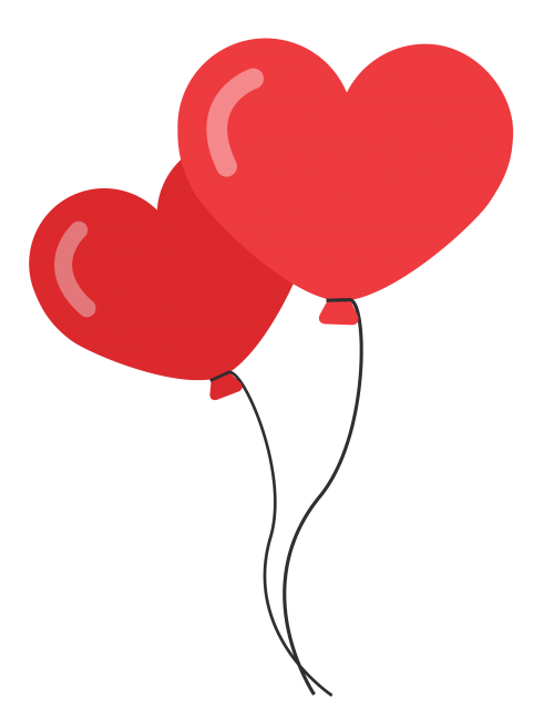 Heart shaped balloons clipart clip library download Heart Shaped Balloons PNG image - PngPix clip library download