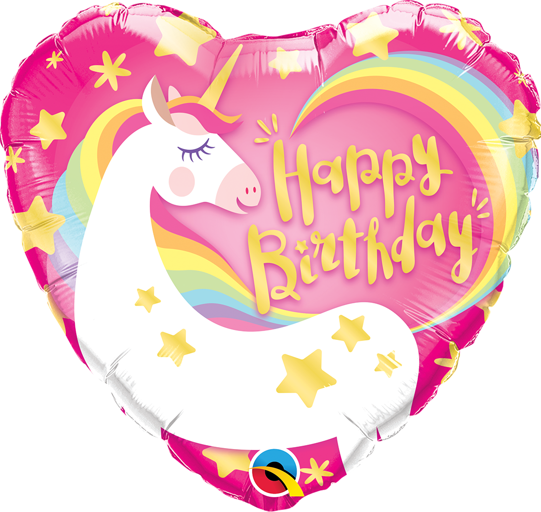 Heart shaped balloons clipart picture royalty free library Magical Unicorn heart shaped foil balloon Party Supplies Auckland ... picture royalty free library