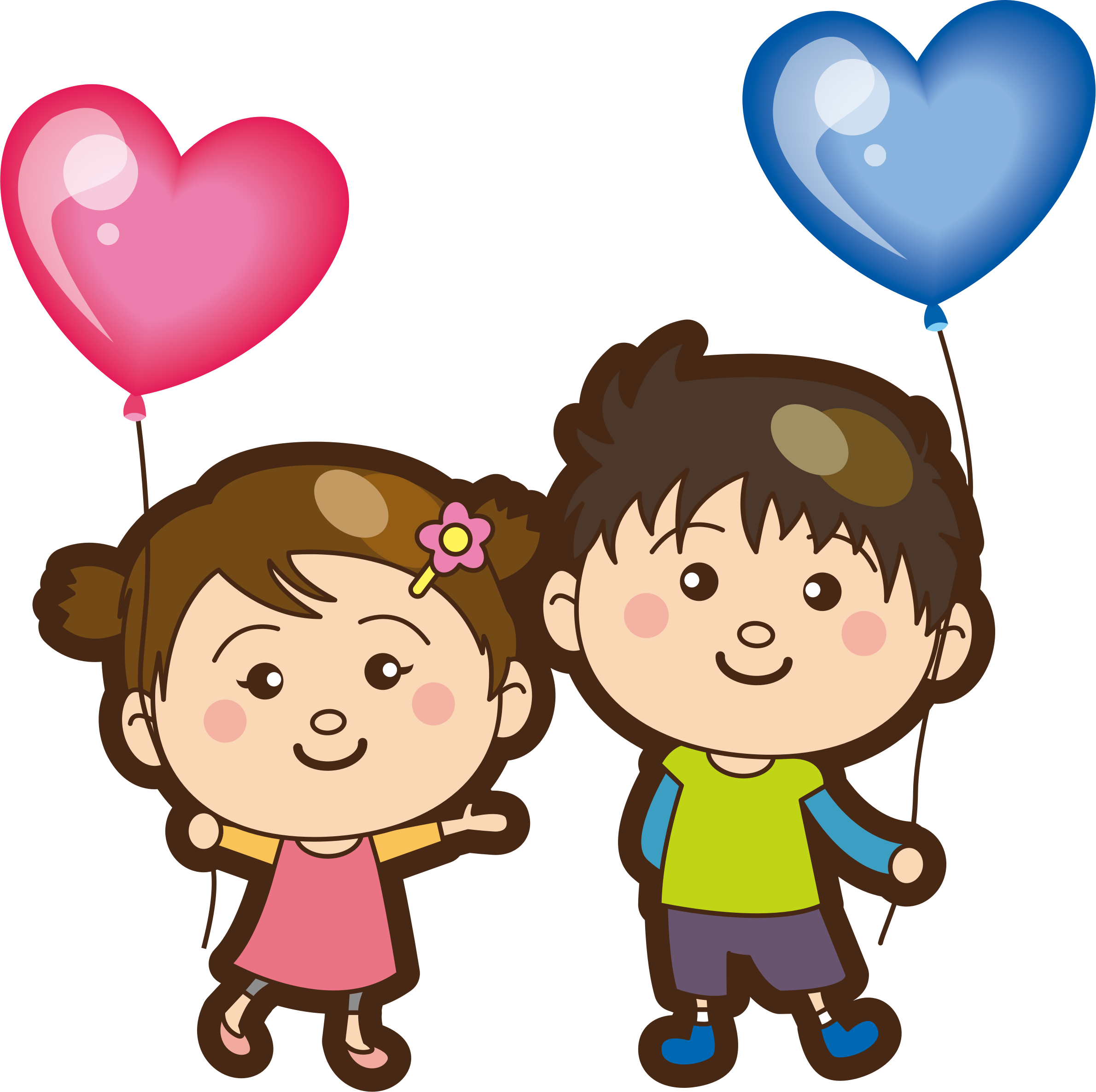 Heart shaped balloons clipart transparent Clipart - Heart-shaped Balloons transparent