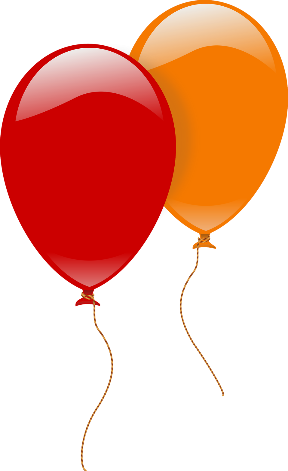 Heart shaped balloons clipart picture freeuse download Balloons | Free Stock Photo | Illustration of a red and an orange ... picture freeuse download