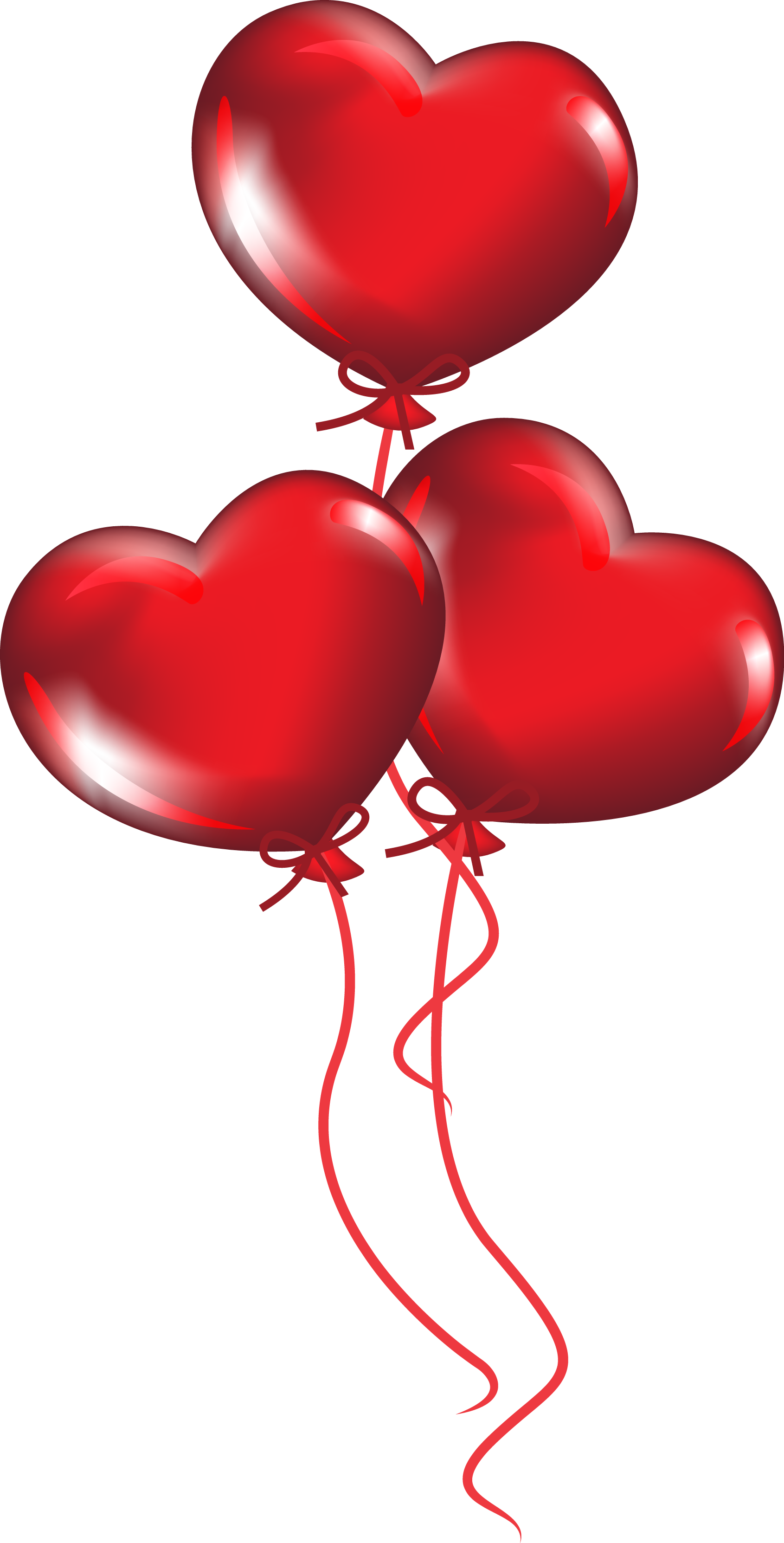 Heart shaped balloons clipart png Heart-shaped balloons Vector material 1690*3325 transprent Png Free ... png
