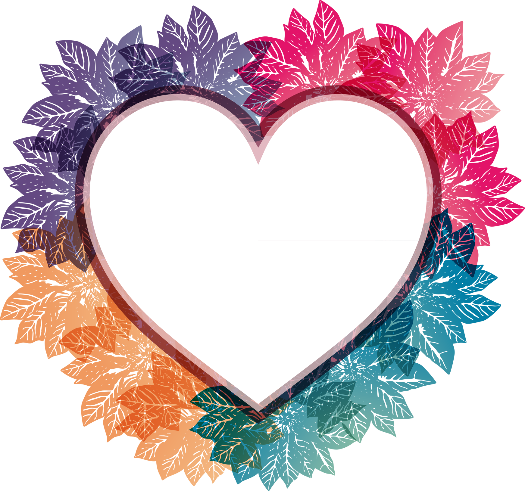 Heart shaped border clipart png royalty free library Picture frame Heart Clip art - heart-shaped artwork leaves border ... png royalty free library