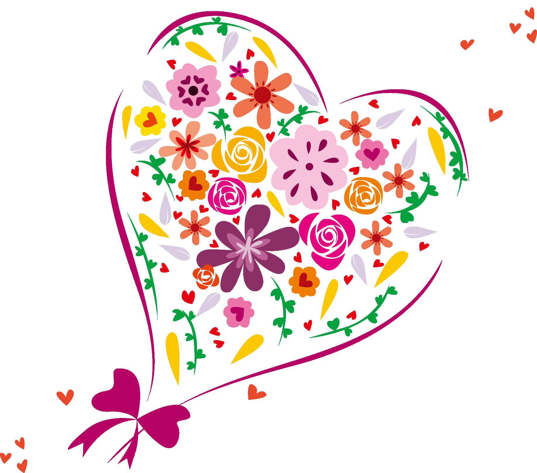 Heart shaped caramel apple clipart png banner library stock Heart Euclidean vector Clip art - Love heart-shaped flowers vector ... banner library stock