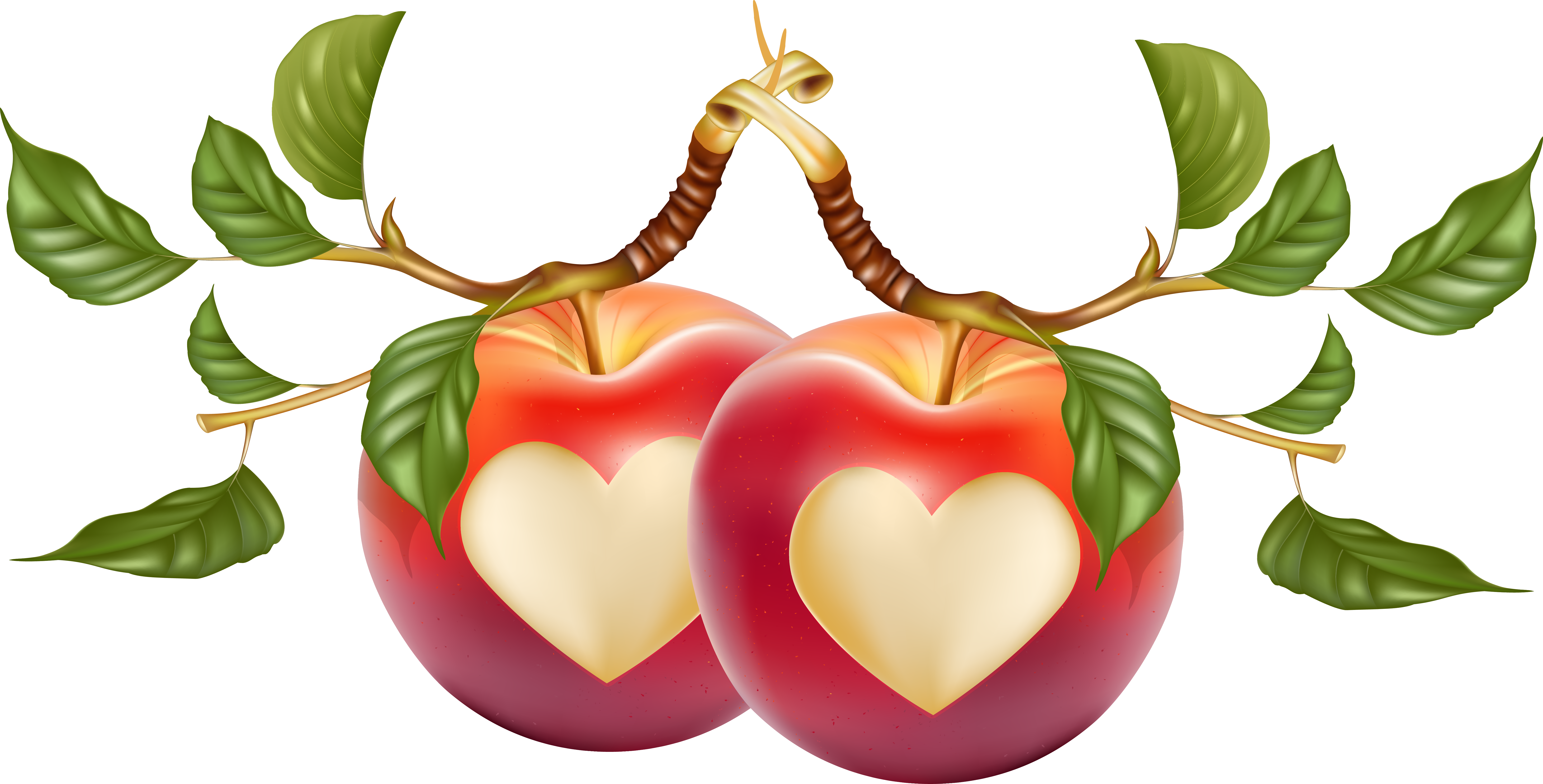 Heart shaped caramel apple clipart png banner library download Heart-shaped apple vector 7389*3756 transprent Png Free Download ... banner library download