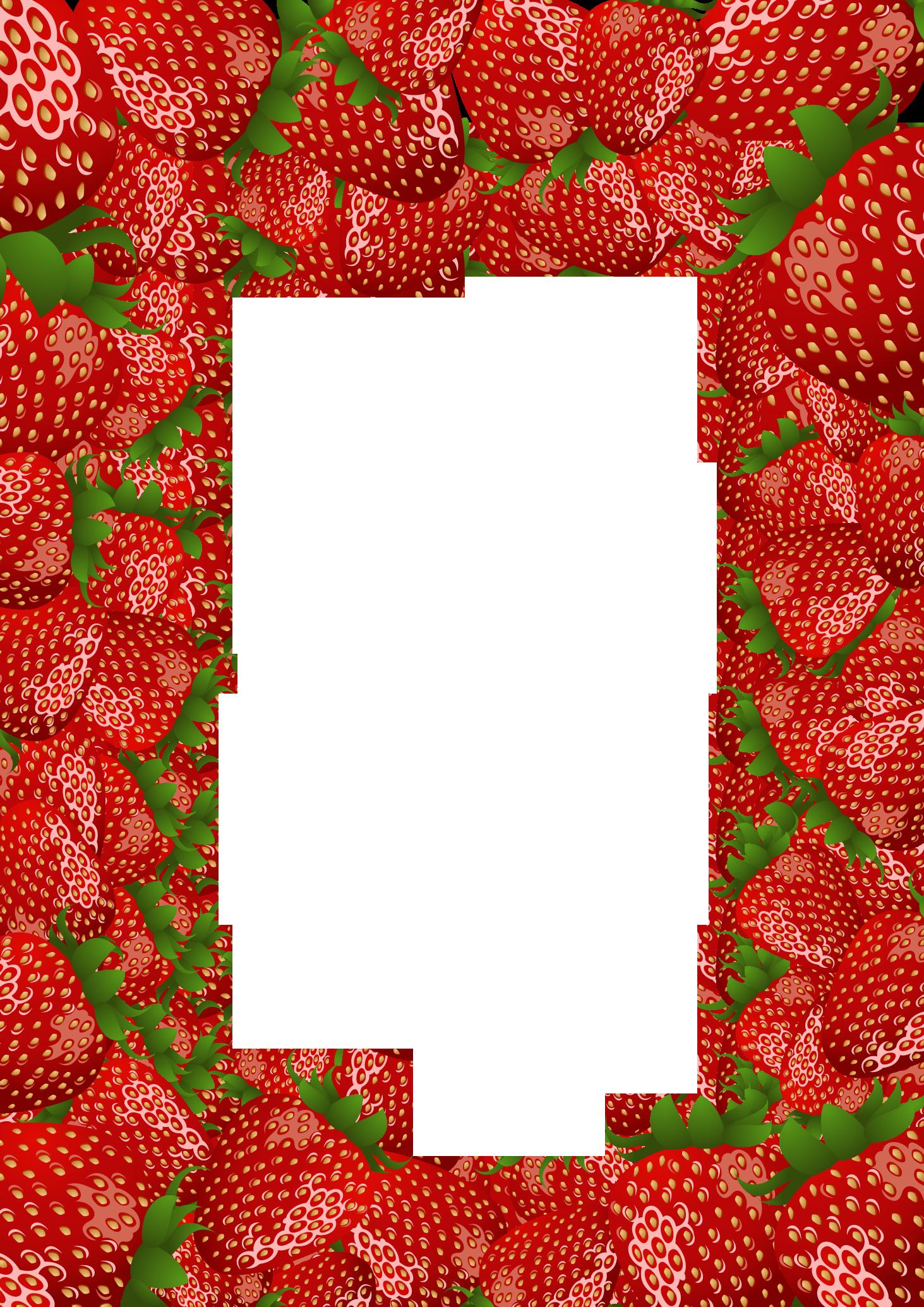 Heart shaped strawberry clipart vector Strawberry Frame by flashtuchka on DeviantArt vector