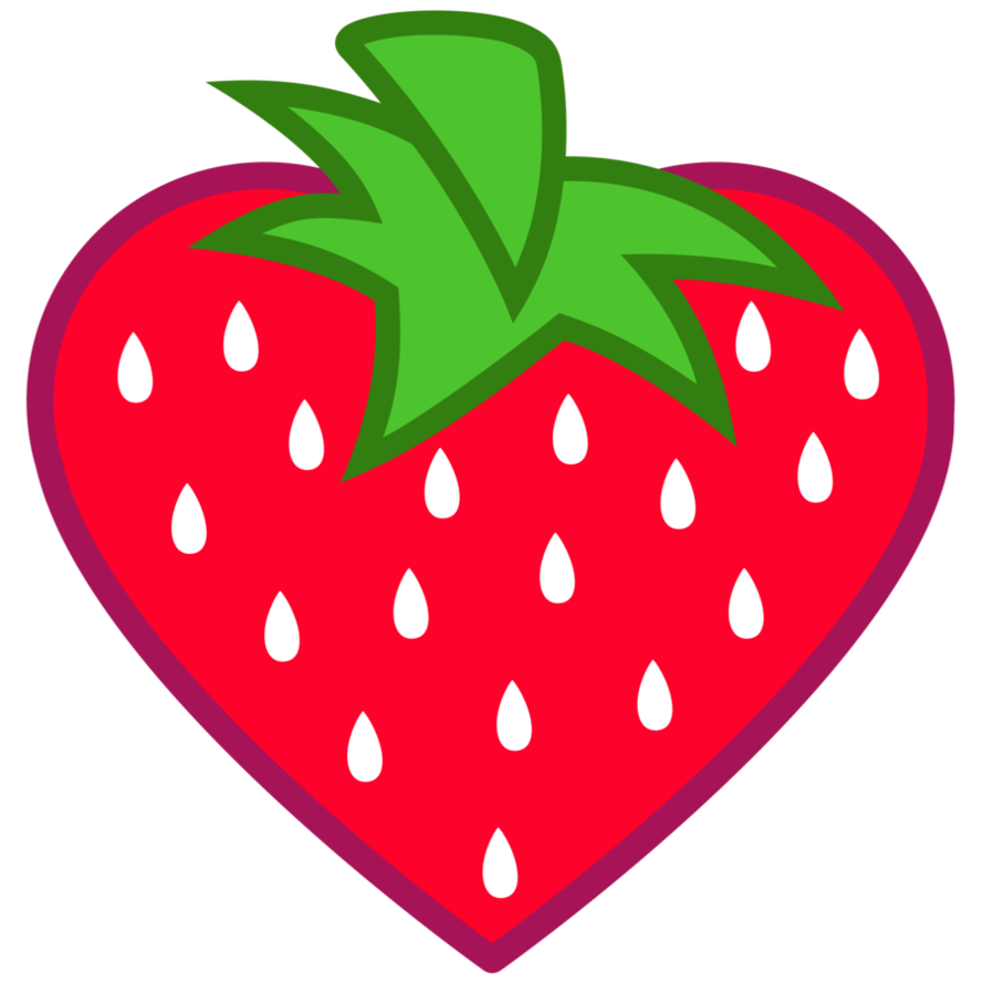 Heart shaped strawberry clipart clipart freeuse library Heart-Shaped Strawberry Cutie Mark [Request] by Lahirien on DeviantArt clipart freeuse library