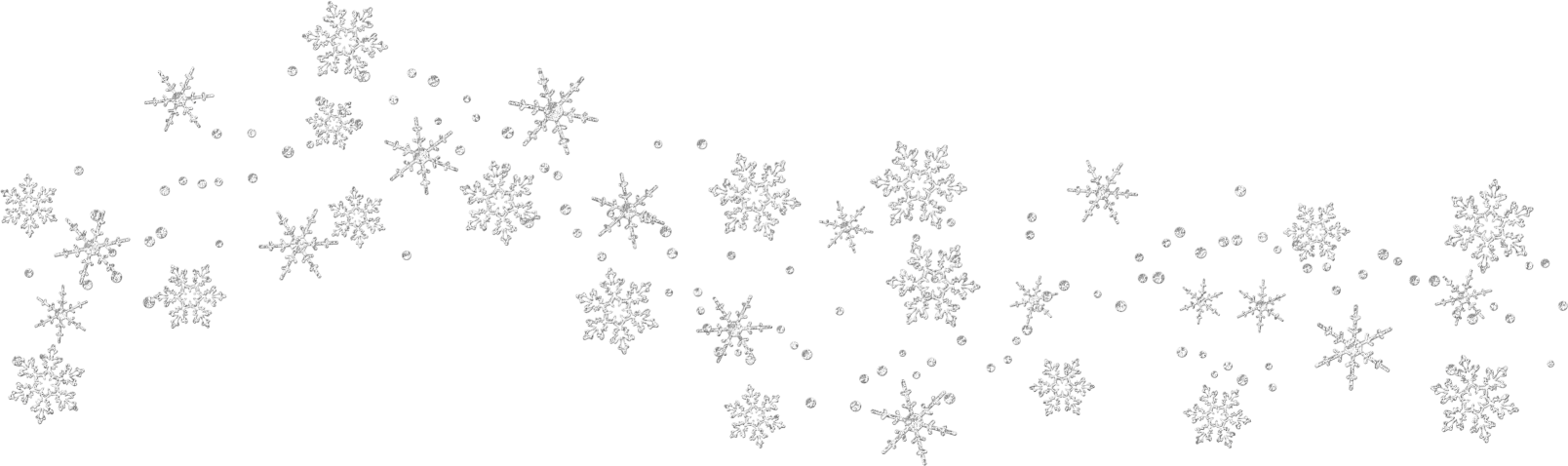 Snowflake clipart border clipart black and white stock 28+ Collection of Snowflake Trail Clipart | High quality, free ... clipart black and white stock