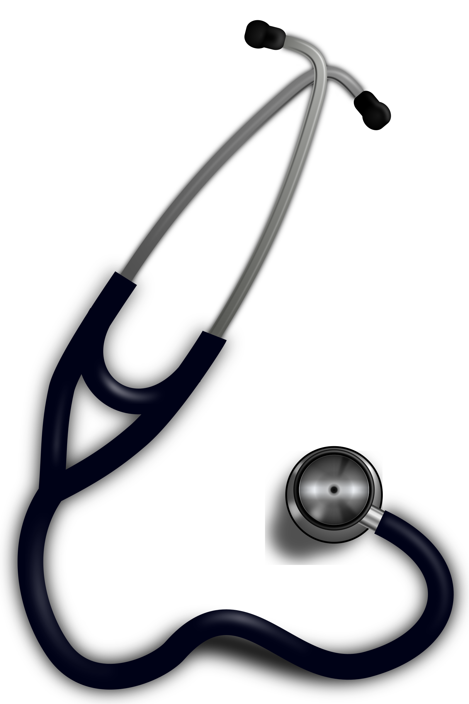 Heart stethoscope clipart svg black and white Clipart - Stethoscope svg black and white