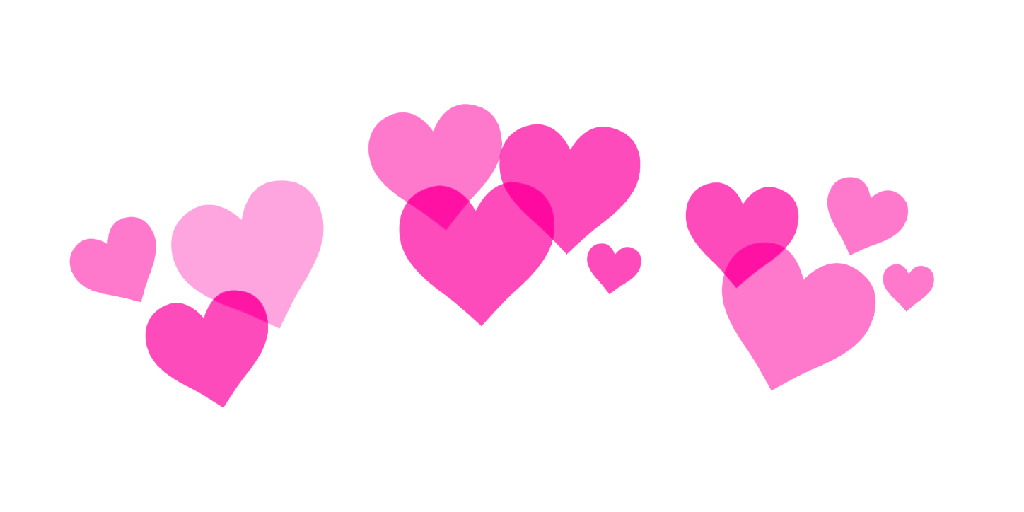 Heart tiara clipart graphic freeuse stock lovely girly hearts corazones tiara 3d whatsapp pink... graphic freeuse stock