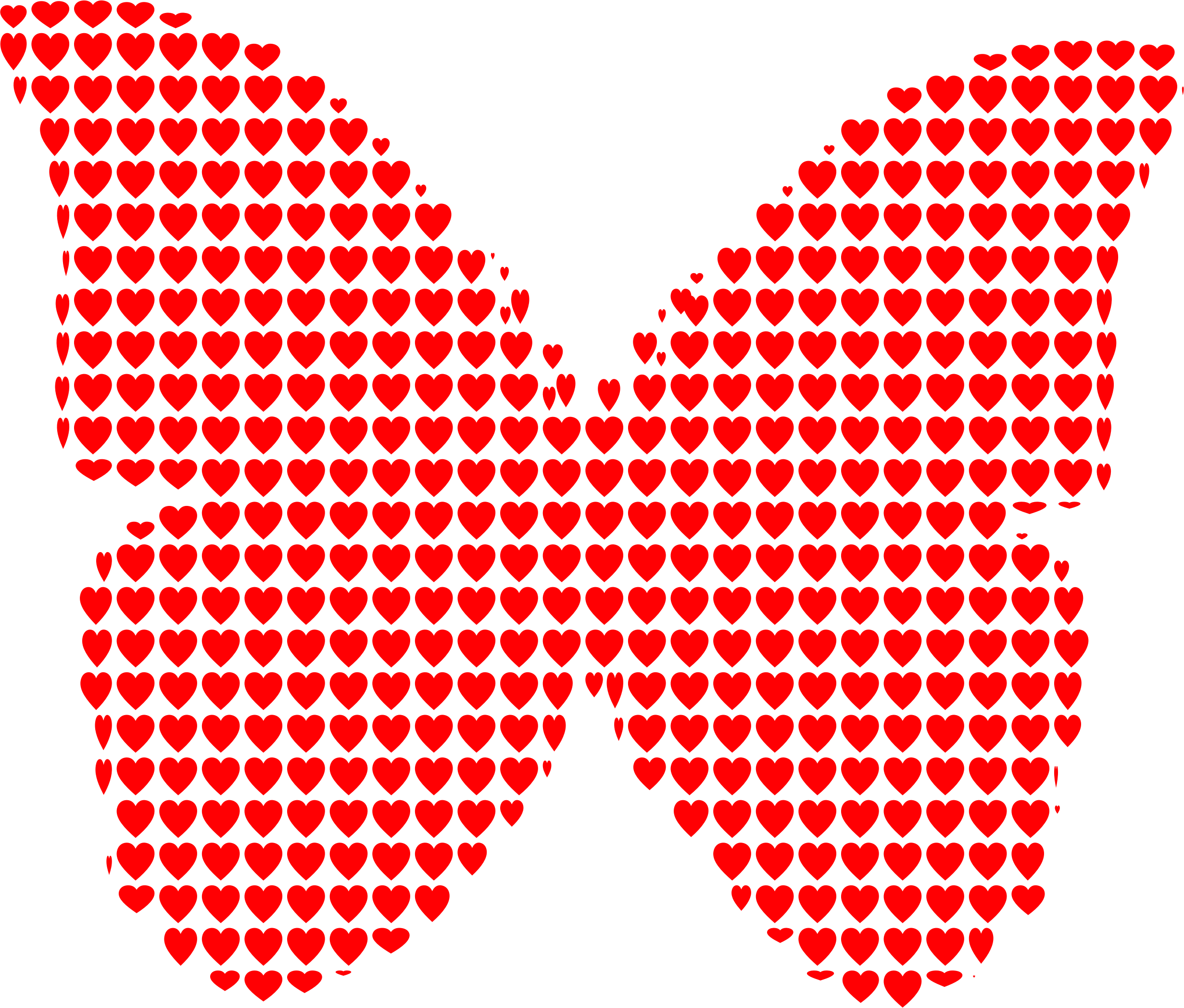 Heart trail clipart vector download Butterfly Heart Clipart - BClipart vector download
