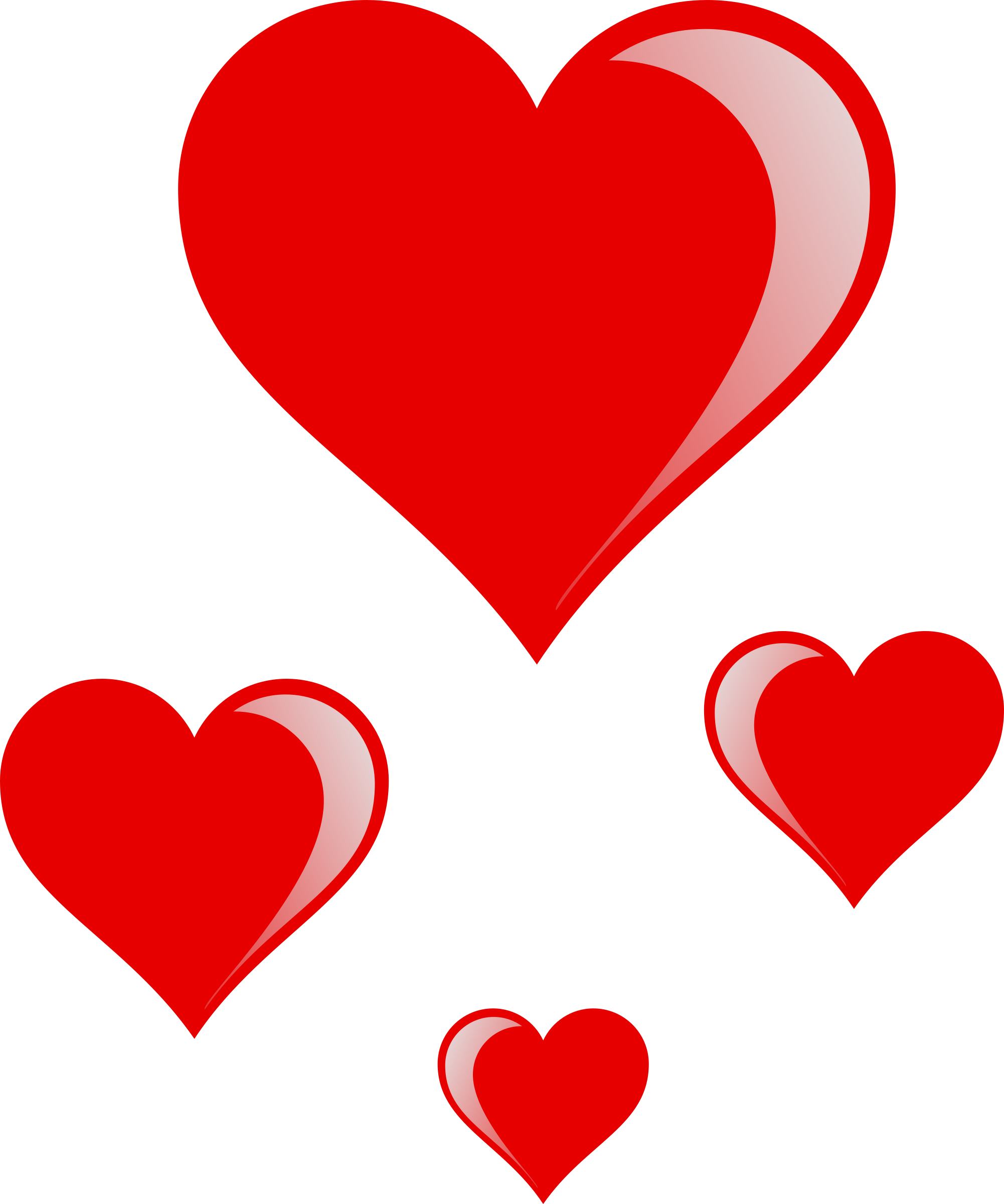 Heart valentines clipart graphic Clipart - heart cluster graphic