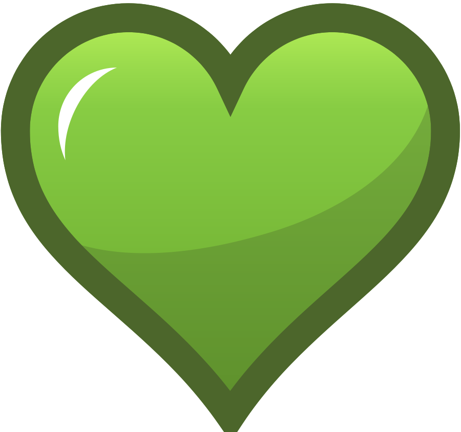 Heart vector clipart clipart library Green Heart Icon SVG Vector file, vector clip art svg file - Clip ... clipart library
