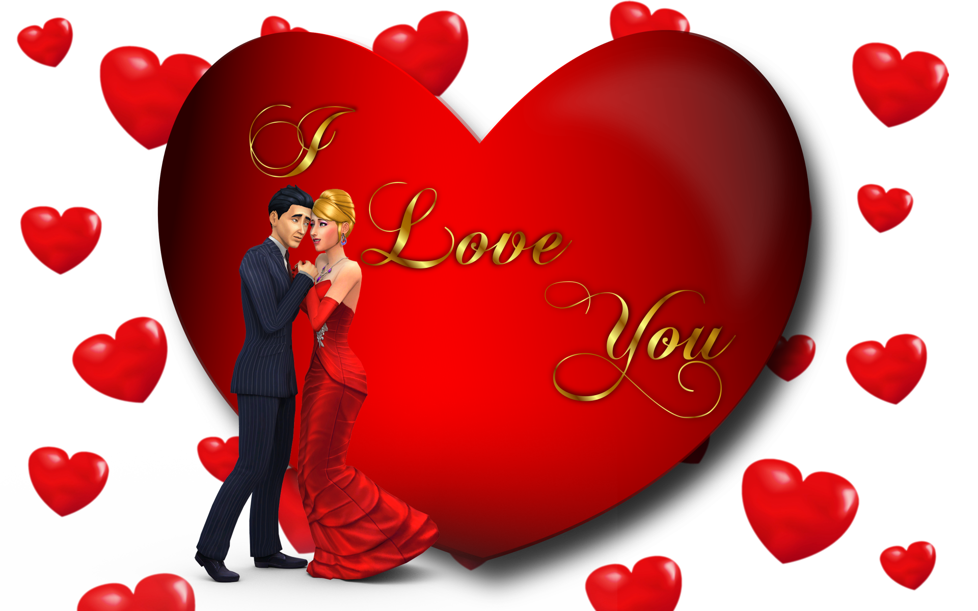 Heart wallpaper clipart royalty free library I Love You Loving Couple Red Heart Desktop Hd Wallpaper For Mobile ... royalty free library