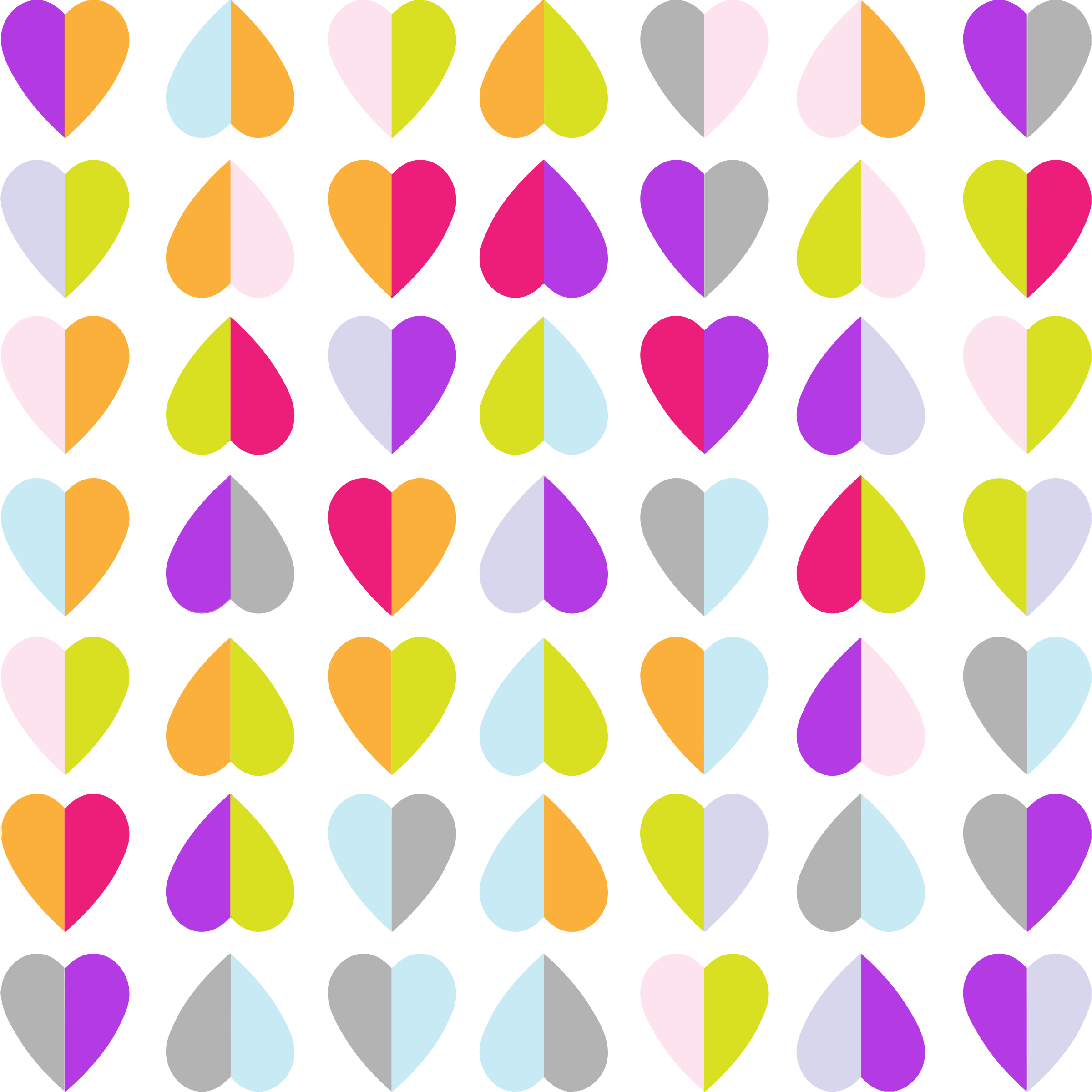 Heart wallpaper clipart graphic download Clipart - Colorful Hearts Pattern Wallpaper graphic download