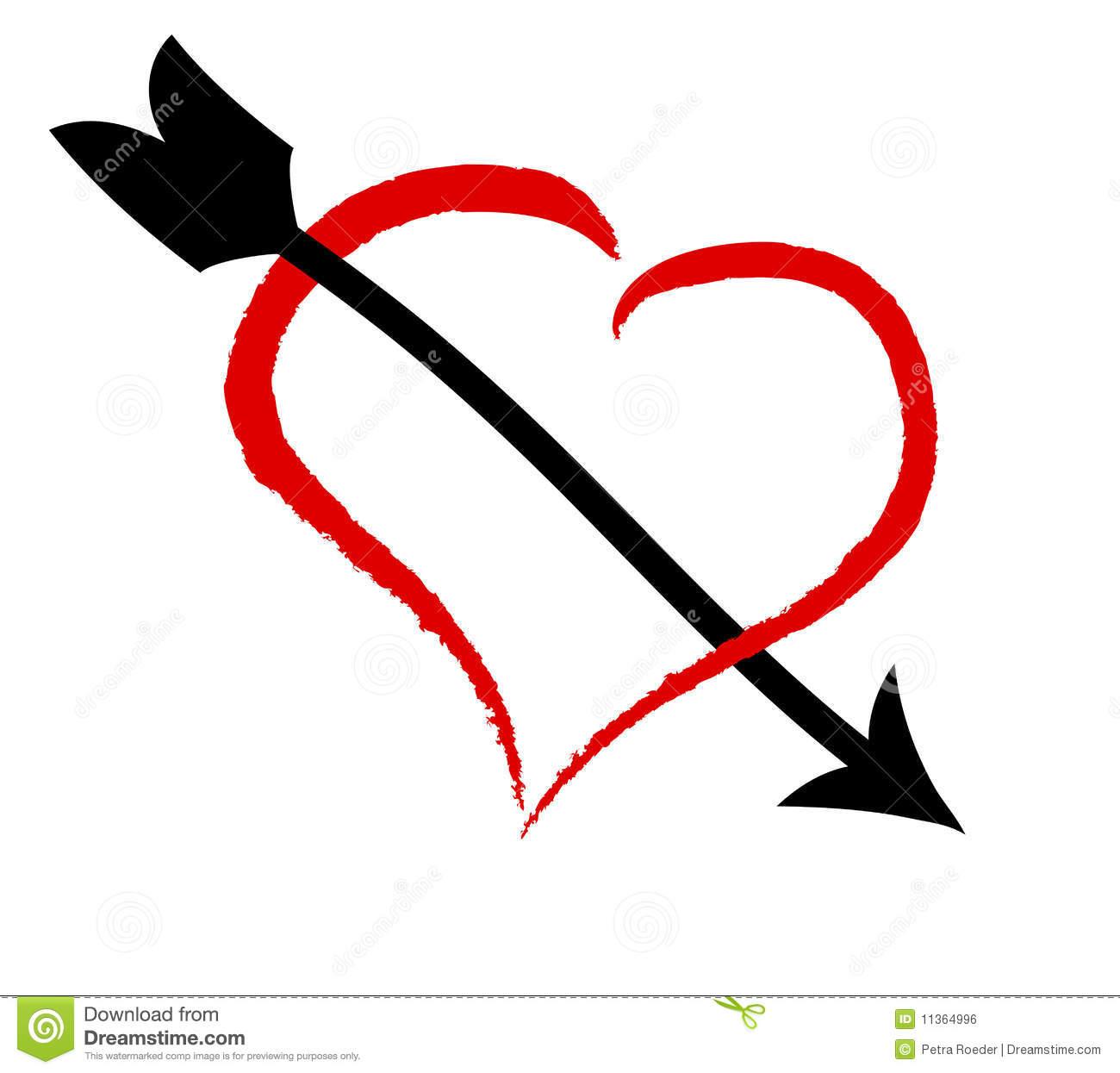 Heart with arrow clipart banner stock Heart With Arrow Royalty Free Stock Image - Image: 11364996 banner stock