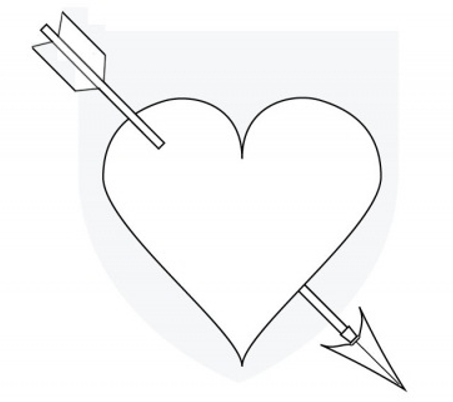Heart with arrow clipart clip transparent stock Heart double arrow clipart - ClipartFest clip transparent stock