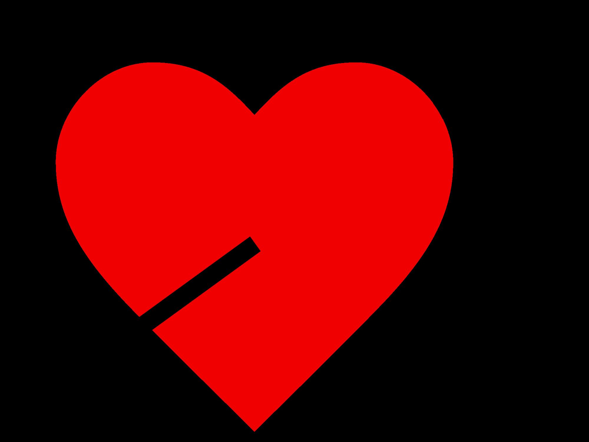 Heart with arrow clipart