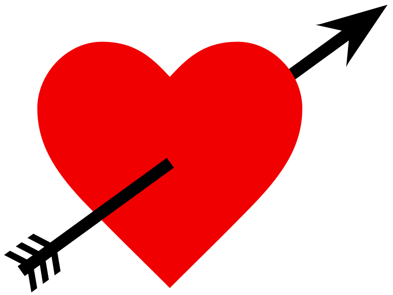 Heart with arrow clipart black picture royalty free download Heart With Black Arrow transparent PNG - StickPNG picture royalty free download