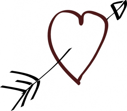 Heart with arrow clipart black clipart free download Tree carved heart with arrow in it black and white clipart ... clipart free download