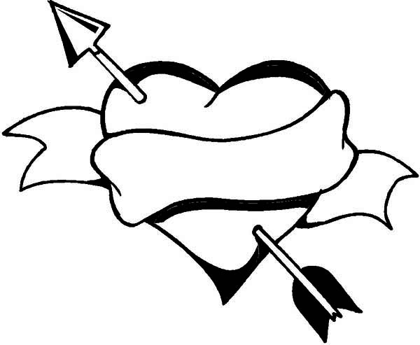 Heart with arrow clipart black image library download Heart With Arrow | Free Download Clip Art | Free Clip Art | on ... image library download