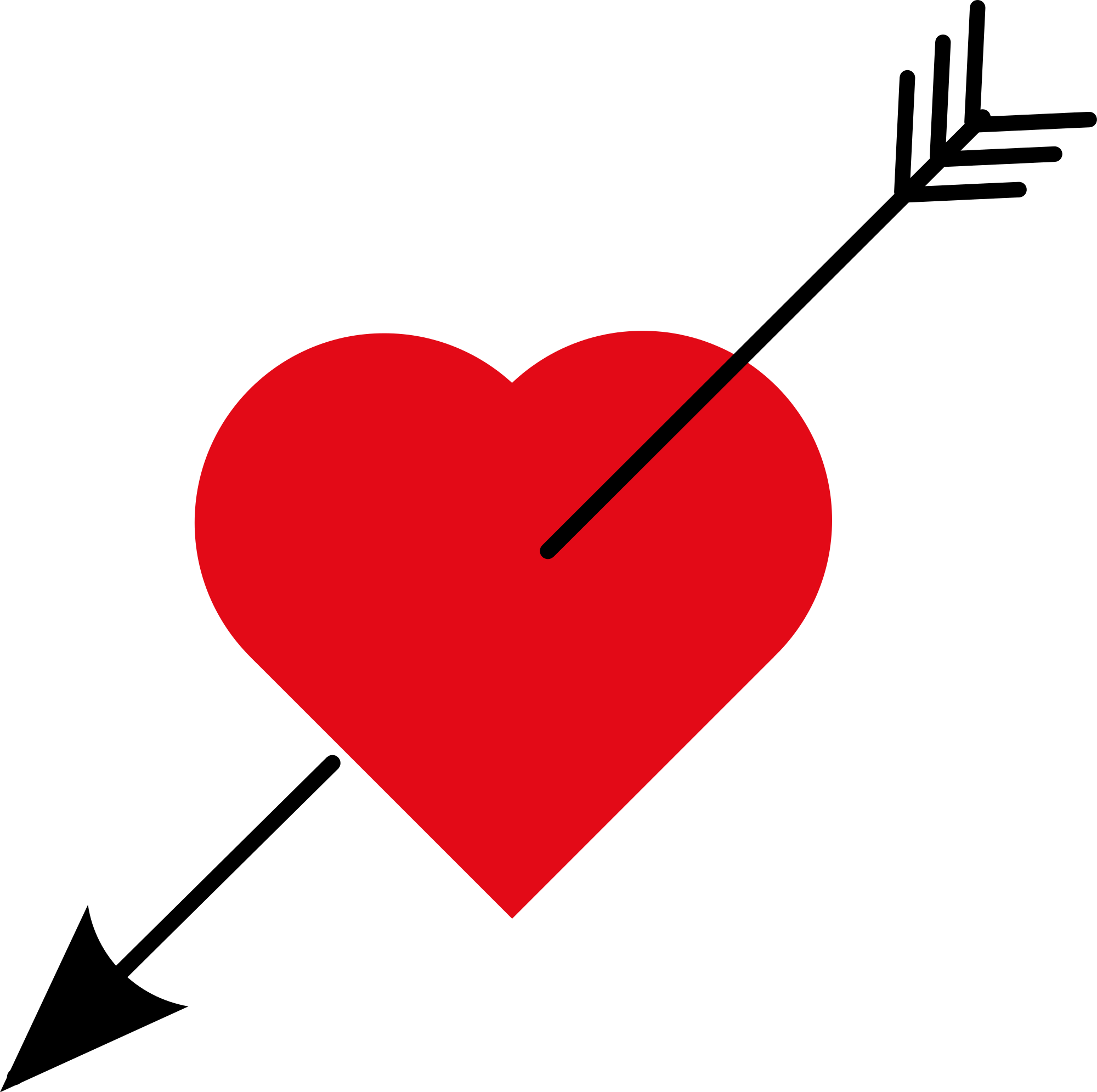 Heart with arrow clipart black picture freeuse download File:Love Heart with arrow.svg - Wikimedia Commons picture freeuse download
