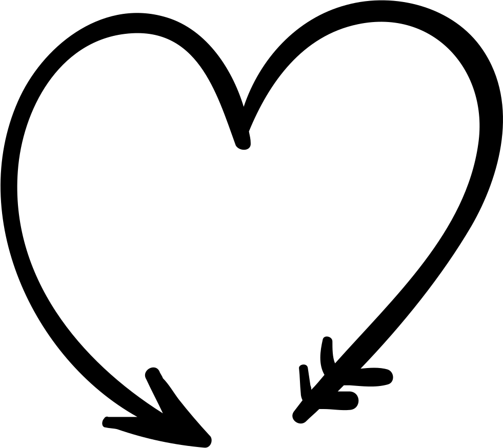 Black and white heart arrow clipart vector black and white Arrow Forming A Heart Svg Png Icon Free Download (#71772 ... vector black and white