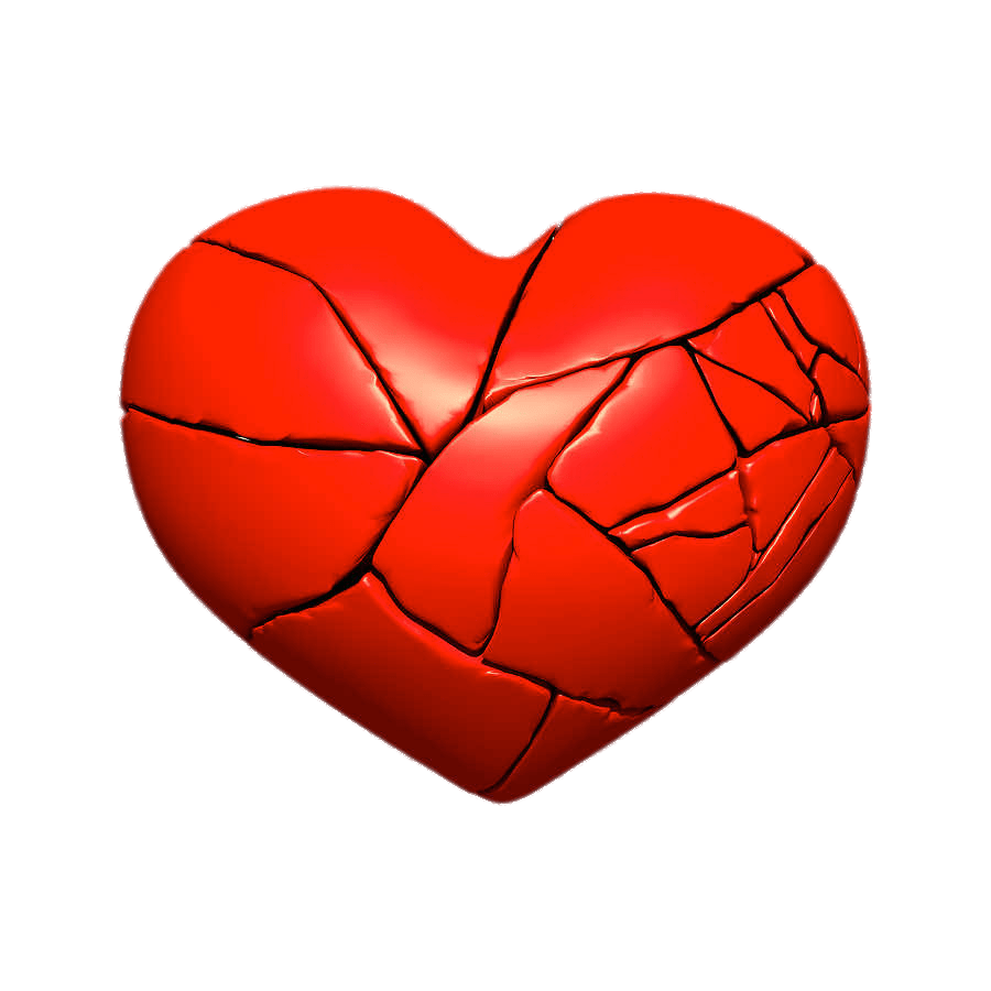 Heart with bandaid clipart transparent library Fractured Broken Heart transparent PNG - StickPNG transparent library