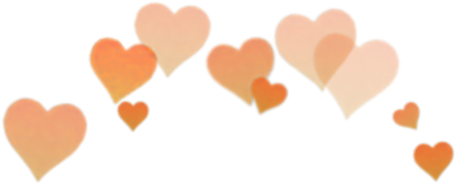 Heart with crown clipart transparent clip art download orange heart filter Snapchat snapchat crown... clip art download