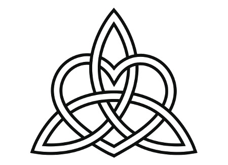 Heart with love knot png free clipart vector transparent stock Celtic-heart-triquetra-knot-tattoo-Transparency-Bk by Lupita ... transparent stock