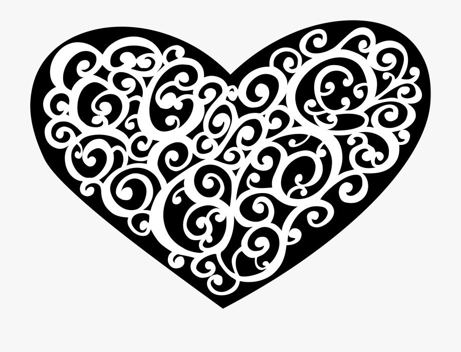 Heart with love knot png free clipart vector