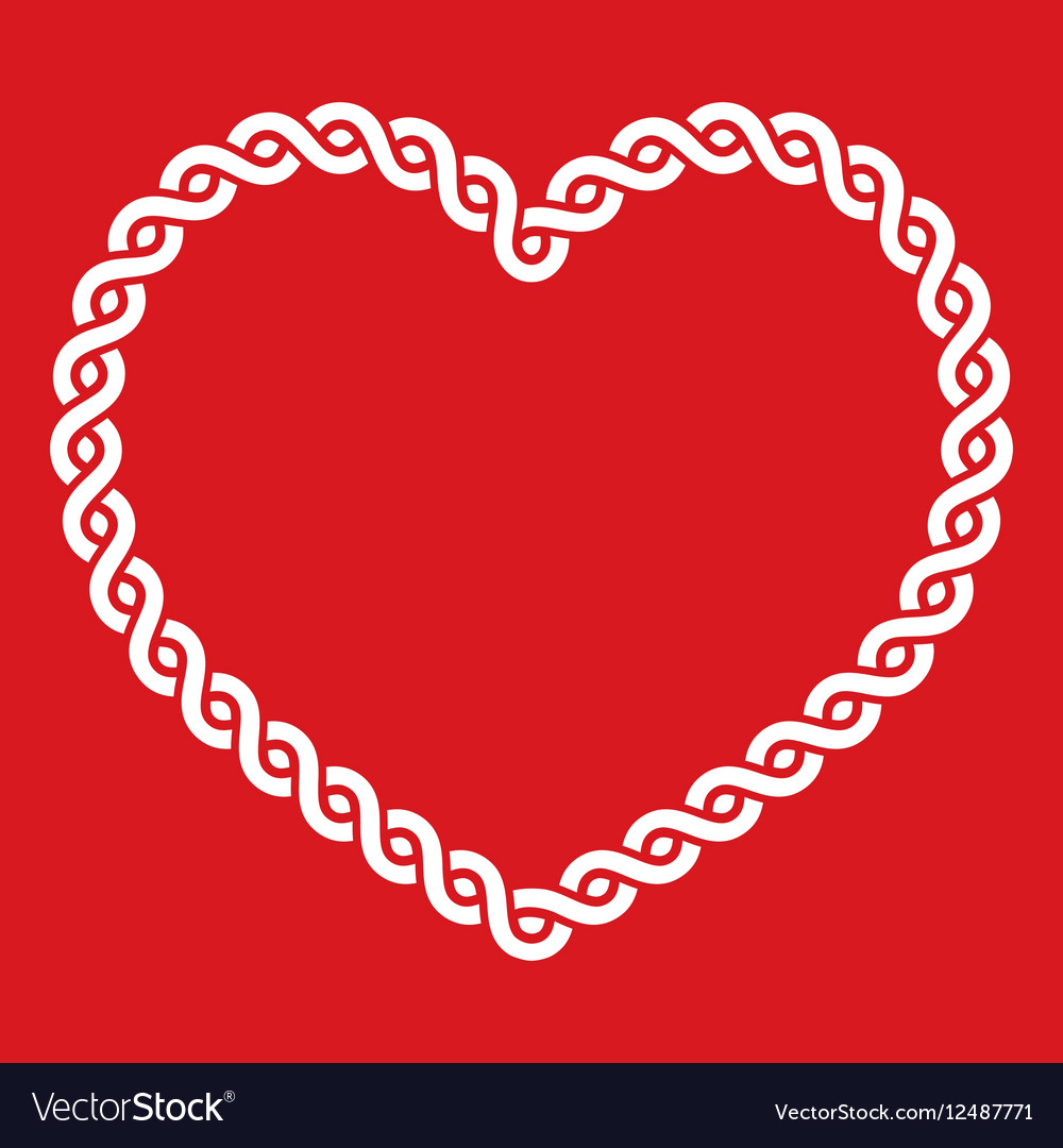 Heart with love knot png free clipart vector picture royalty free download Celtic knot pattern red heart shape - love concept picture royalty free download