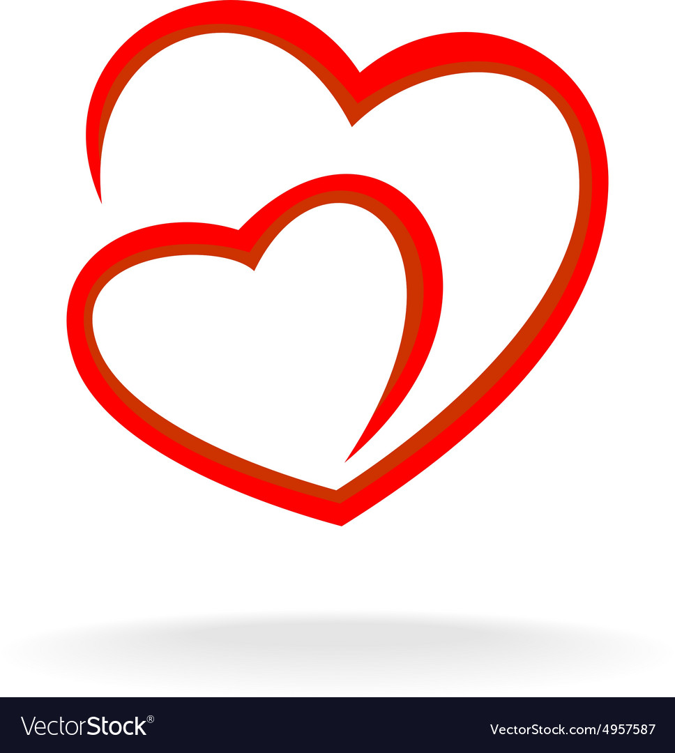 Heart with love knot png free clipart vector clipart free download Two hearts logo clipart free download
