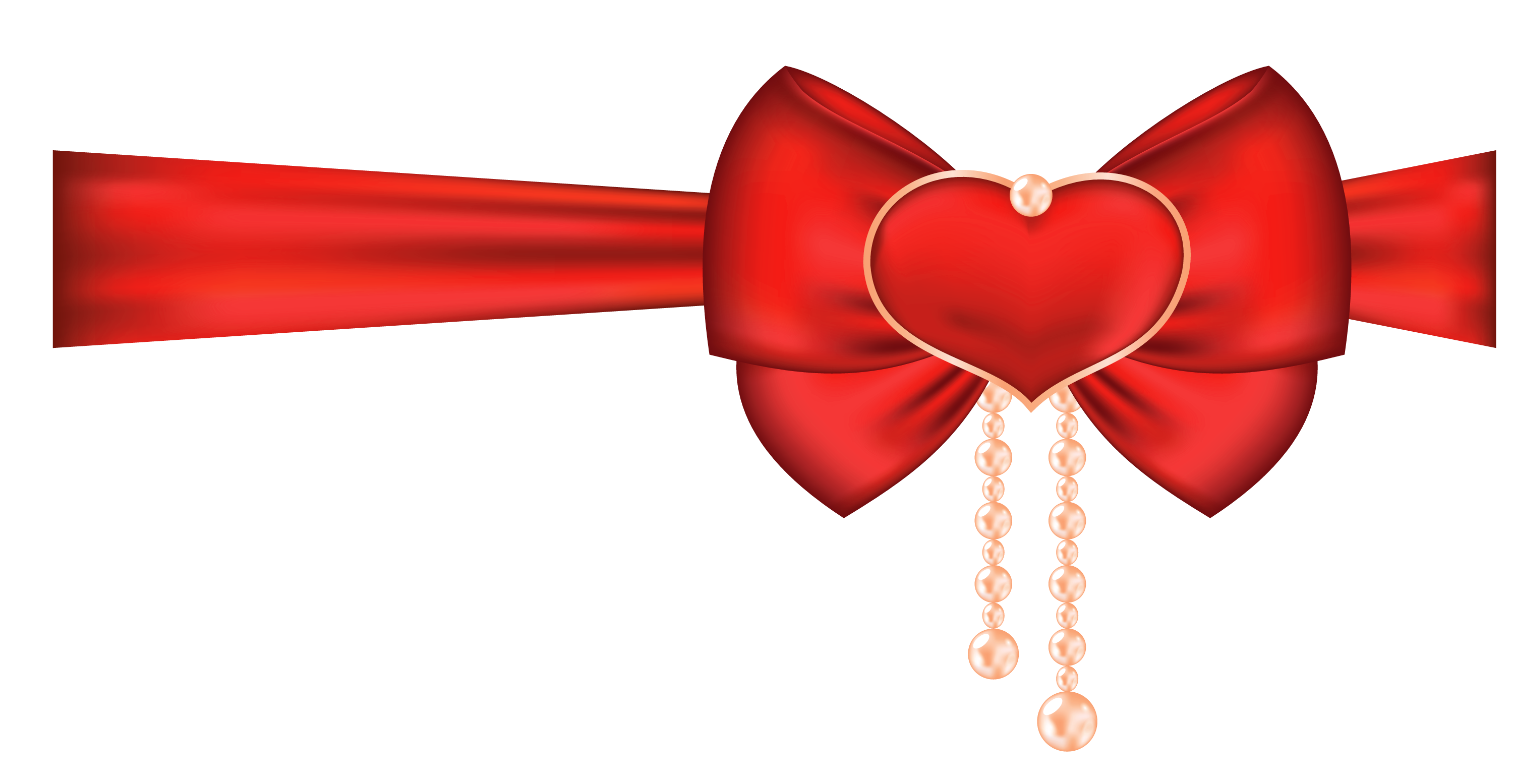 Heart with ribbon clipart png royalty free library Red Bow with Heart Decor PNG Clipart Picture | Gallery Yopriceville ... png royalty free library