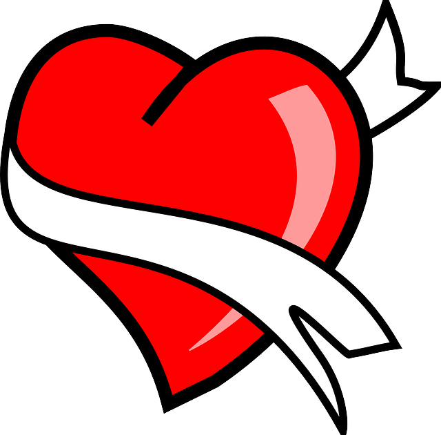 Heart with ribbon clipart vector stock Free Image on Pixabay - Heart, Ribbon, Love, Valentine, Red vector stock