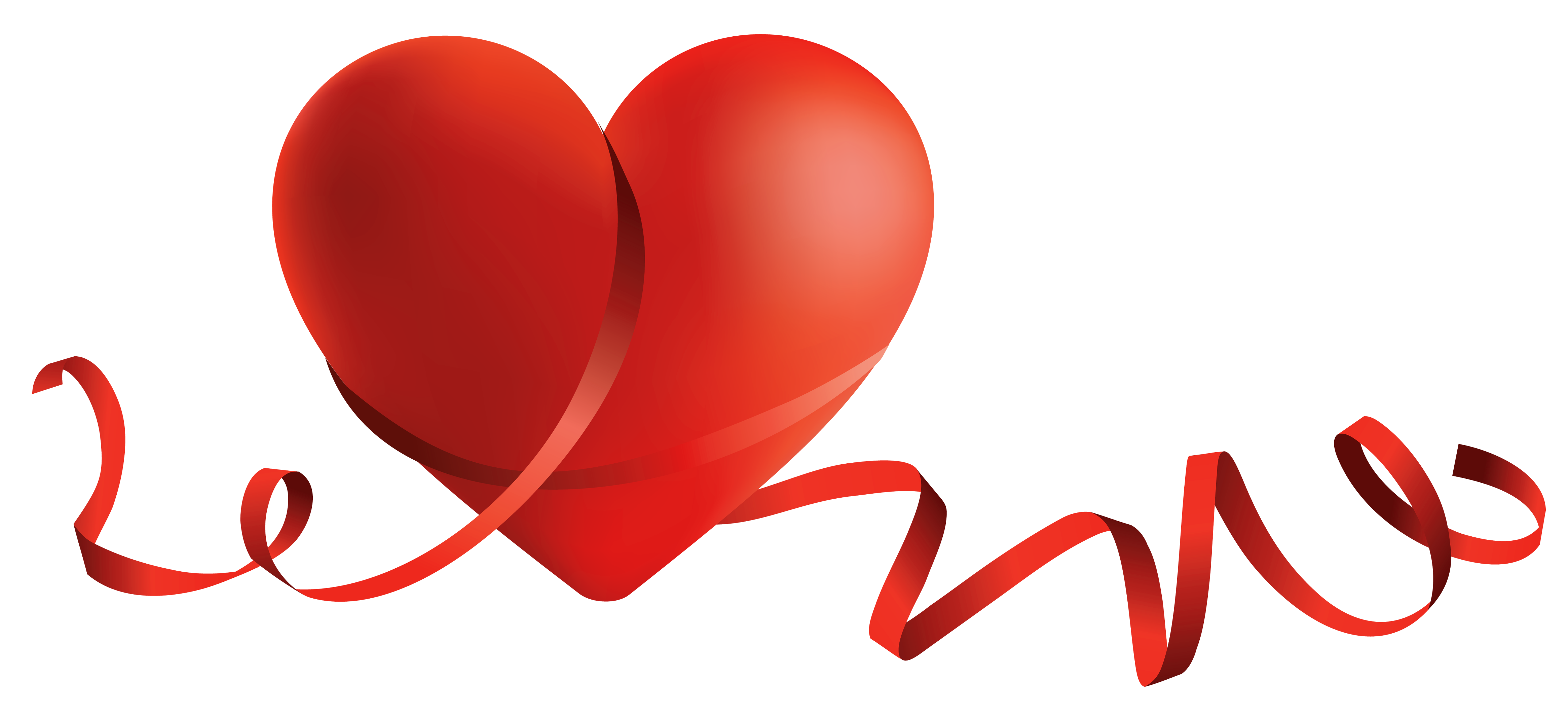 Heart with ribbon clipart clip library library Transparent Red Heart with Bow PNG Clipart | Gallery Yopriceville ... clip library library