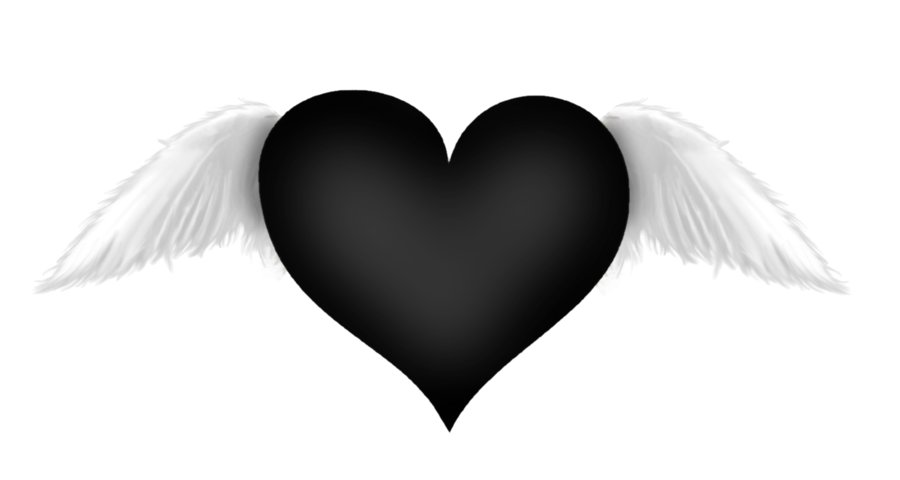 Heart with wings clipart black and white library ForgetMeNot: Angel - wings library
