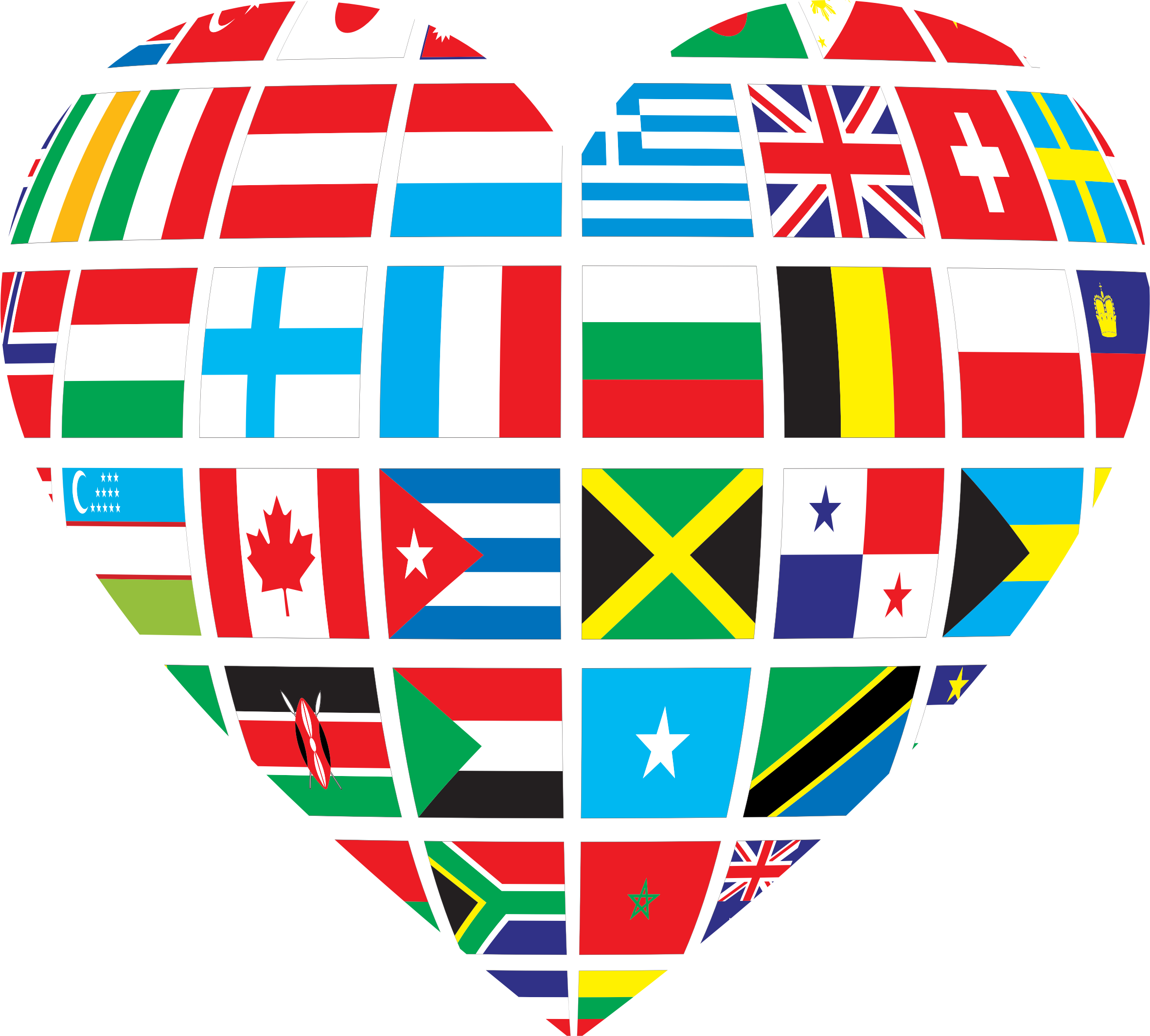 Heart world clipart image freeuse stock Clipart - Global Heart image freeuse stock