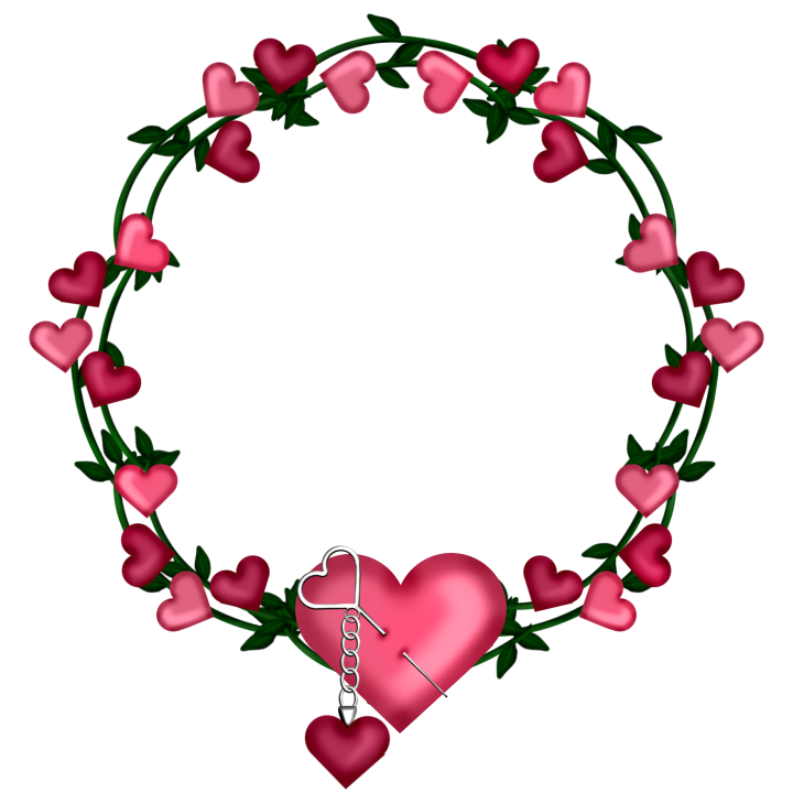 Heart wreath clipart clip art royalty free Transparent Frame Wreath with Hearts | Gallery Yopriceville - High ... clip art royalty free