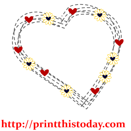 Hearts and flowers clip art vector freeuse stock Free Hearts Clip Art vector freeuse stock