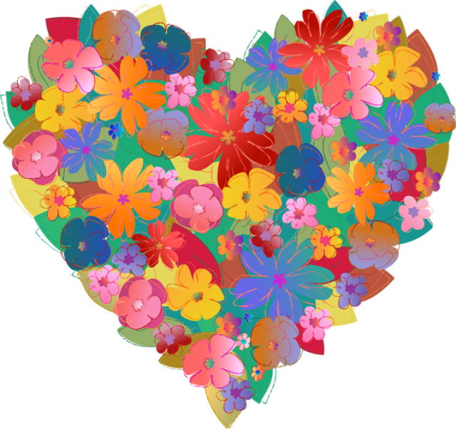 Hearts and flowers clip art picture freeuse Best Photos of Hearts Flowers Clip Art Pretty - Hearts and Flowers ... picture freeuse