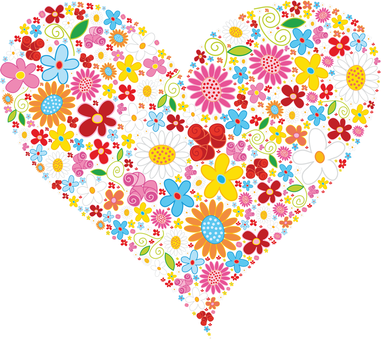 Hearts and flowers clip art picture library library Heart Clipart | Heart Clip Art | Pinterest | Clip art picture library library