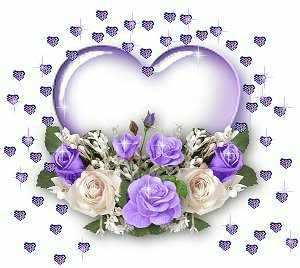 Hearts and roses clipart graphic library download Glitter Graphic Hearts | Clipart » Flowers » PURPLE HEART N ROSES ... graphic library download
