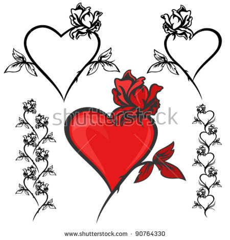 Hearts and roses clipart banner royalty free Image Gallery of Hearts And Roses Clipart banner royalty free