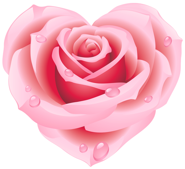 Pink hearts and flowers clipart clipart free Large Pink Rose Heart Clipart | Hearts | Pinterest | Pink roses ... clipart free