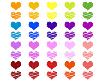 Hearts and stars clipart graphic library stock Colorful Stars And Hearts | Clipart Panda - Free Clipart Images graphic library stock